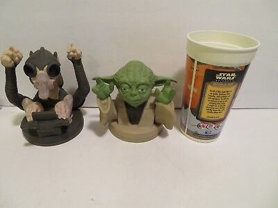 Star Wars YODA  Topper and Cup & SEBULBA top