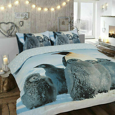 100% Brushed Cotton Duvet/Quilt Cover Bedding Set Double King With Pillow Cases