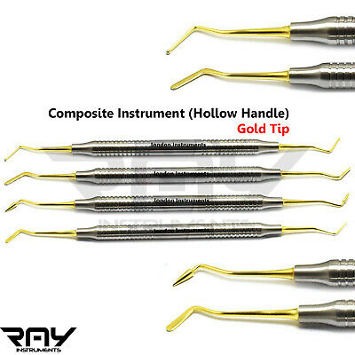 Dental Composite Light Weight Titanium Coated Restorative Filling Instruments