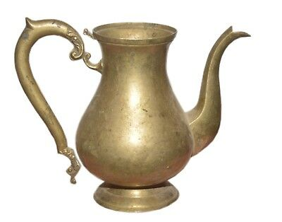 Century Antique Jug Pitcher Coffy Brass Tea Pot Jar Old Islamic Middle East