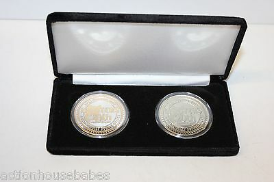 2 Coin Set Commemorative Hooters Hootie Owl 20th Anniversary,Gold & Silver Token