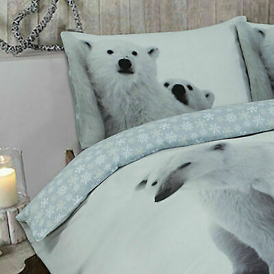 3 Piece 100% Brushed Cotton Buttoned Duvet Cover Quilt Bedding Set Pillow Cases