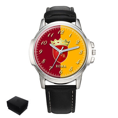 City Of Rome Roma Flag Coat Of Arms Italy Gents Mens Wrist Watch  Gift Engraving