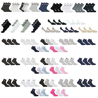 Fila Socks 9,12, 15 Pairs Tennis Socks, Trainers, Casual or, Quarter, Socks