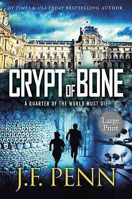Crypt of Bone: Large Print by J.F. Penn Paperback Book Free Shipping!