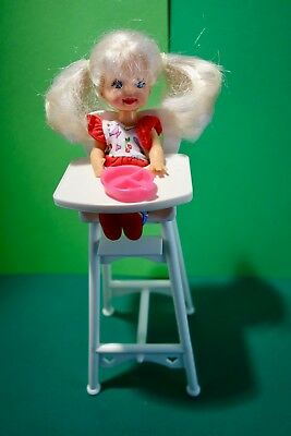 Barbie doll  Shelly  Eating Fun 1997  doll and high chair ----no accessories