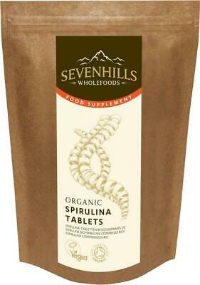 Sevenhills Wholefoods Organic Spirulina 500mg Tablets Pack of 1000, 500g