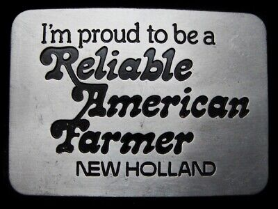 Lg05172 Vintage 1982 ***Reliable American Farmer*** New Holland Tractor Buckle