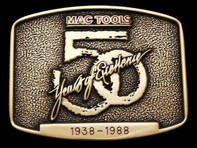 Lg27169 Vintage 1988 ***Mac Tools*** 50 Years Of Excellence Solid Brass Buckle