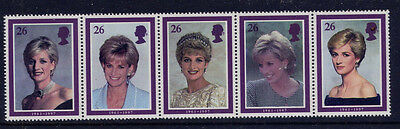 Gb 1998 Diana Princess Of Wales Commemoration Strip Mnh