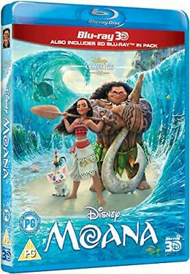 MOANA (2016) Disney Pixar 3D + 2D Blu-Ray with slipcover BRAND NEW Free Ship