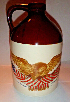 McCoy USA Pottery Jug 51 The Spirit of Seventy Six CARVED WOODEN EAGLE