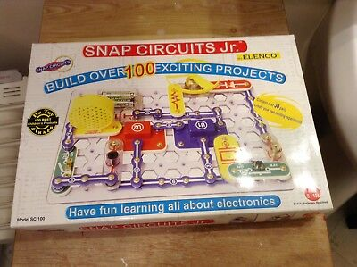 electronics \u0026 electricity, science \u0026 nature, educational, toyselenco snap circuits jr build over 100 projects new model sc 100