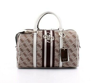 100af1391b Borsa A Mano Donna Guess Bauletto Guess Vintage Box Satchel Tracolla Stampa  Logo