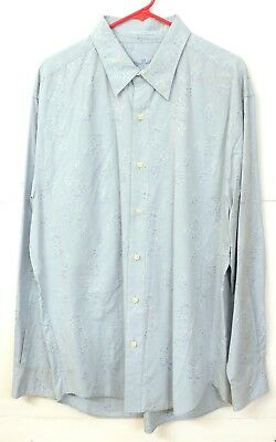 GUC Tommy Bahama Mens Size XL Sky Blue Cotton / Silk Blend Long Sleeve Shirt