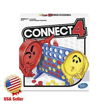 Hasbro Connect 4 Four Classic Family Fun Fast Paced Board Game Fast shipping new