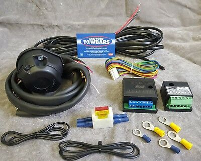 Towbar Wiring Kit 13 Pin Universal Electrics 7way Bypass Relay dual charge NEW