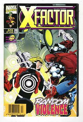 X-FACTOR #144 tough Newsstand Edition with RANDOM from Apr. 1998 in F/VF con.
