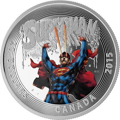 """2015 Royal Canadian Mint """"Iconic Superman"""" $20 Fine Silver Coin"""