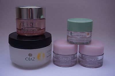 5x CLINIQUE Oil of Olaz Creme Tiegel leer Dose Set 7 ml 15 50 Selbstabfüller