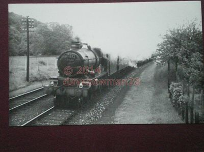 Photo  Gwr Collett Castle 4-6-0 Loco 5023 Brecon  Castle Nr Bodmin Rd - Cornish