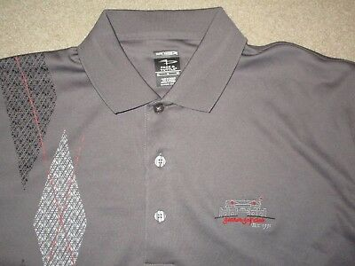 9fbce600 Page & Tuttle Cool Swing Gannon Golf Club Men's Shirt Gray Red Large  Polyester