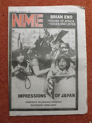 """NEW MUSICAL EXPRESS"" NME - July 26th 1980 - Brian Eno, Dexys Midnight Runners.."