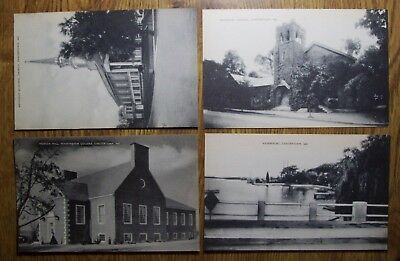 Four  Different Vintage Mint Postcards, Black & White, Cchestertown, Maryland