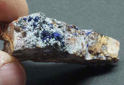 Azurite Crystal Specimen Natural Blue Copper Mineral Mexico 13696