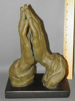 Vintage  Alva Studios Praying Hands Sculpture