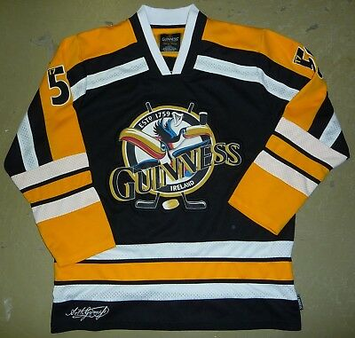 de6c261fb Official Guinness Beer Toucan Yellow Hockey Shirt Jersey Size Adult Large  NICE!