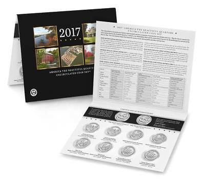 2017 P&D US Mint America the Beautiful Quarters Uncirculated Quarter Set