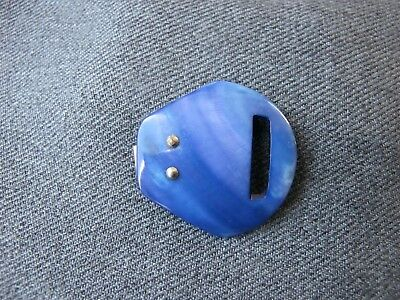Vintage cute nice blue color real mother of pearl belt buckle