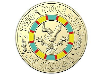 2019 Australia Mr Squiggle and Friends $2 Coin - Mr Squiggle