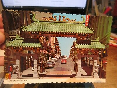Vintage Old Postcard CALIFORNIA San Francisco Chinatown Oriental Gateway Entry