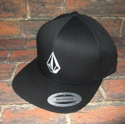 official photos 06e24 89c04 Mens Volcom Black Snapback Adjustable Hat Cap One Size