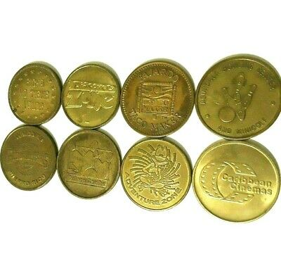 Set 9 DIFFERENT PUERTO RICO Arcade game Amusement Token Lot 1980 - Now SOME RARE