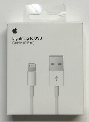 Genuine Apple ME291AM/A 0.5 Meter Lightning to USB Cable