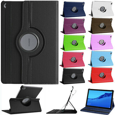360 Rotating Swivel Leather Case Cover For Huawei Mediapad C5 10 M5 Lite 10 10.1