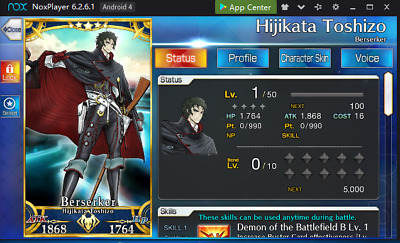 Fate Grand Order Starter Account FGO NA English 5* Hijikata Toshizo