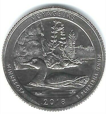 2018-D Brilliant Uncirculated Voyageurs National Park (MN) 25 Cent Coin!