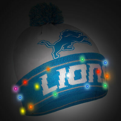8b4df539ae7 DETROIT LIONS NFL Camouflage LED Light Up Beanies Winter Hat ...