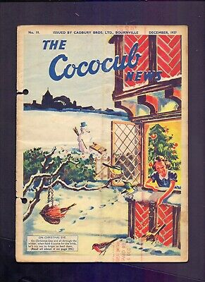 12 Page The Cococub News No 19,issued by Cadbury Bournville December 1937  (YT1)