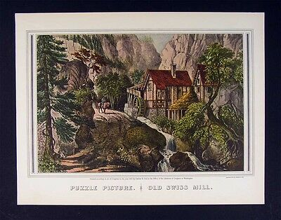"1972 Vintage Currier /& Ives /""JEFFERSON 3rd PRESIDENT US/"" Color Print Lithograph"