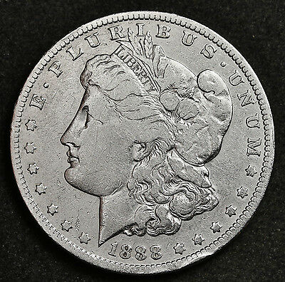 "1888-o Morgan Silver Dollar.  Oval ""O"" mint mark.  Better Grade Detail.  94657"