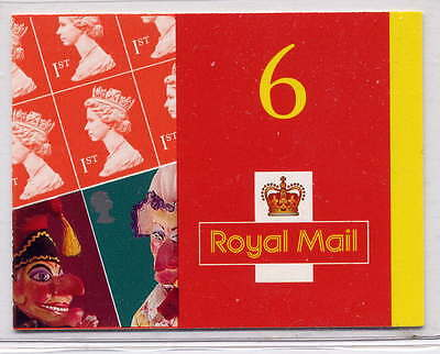 Gb 2001 Punch & Judy Barcode Self Adhesive Booklet Pm3