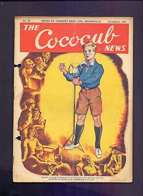 16 Page The Cococub News No 28,issued by Cadbury Bournville October 1938 (YT1)