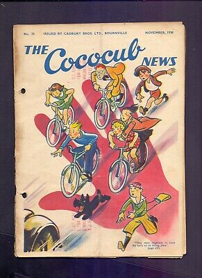 16 Page The Cococub News No 29,issued by Cadbury Bournville November 1938 (YT1)