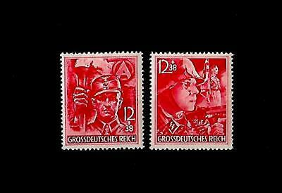GERMANY THIRD REICH  Mi 909-910  SA/SS Stormtroopers stamp set MNH
