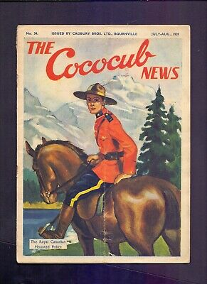 16 Page The Cococub News No 34,issued by Cadbury Bournville July-Aug 1939 (YT1)